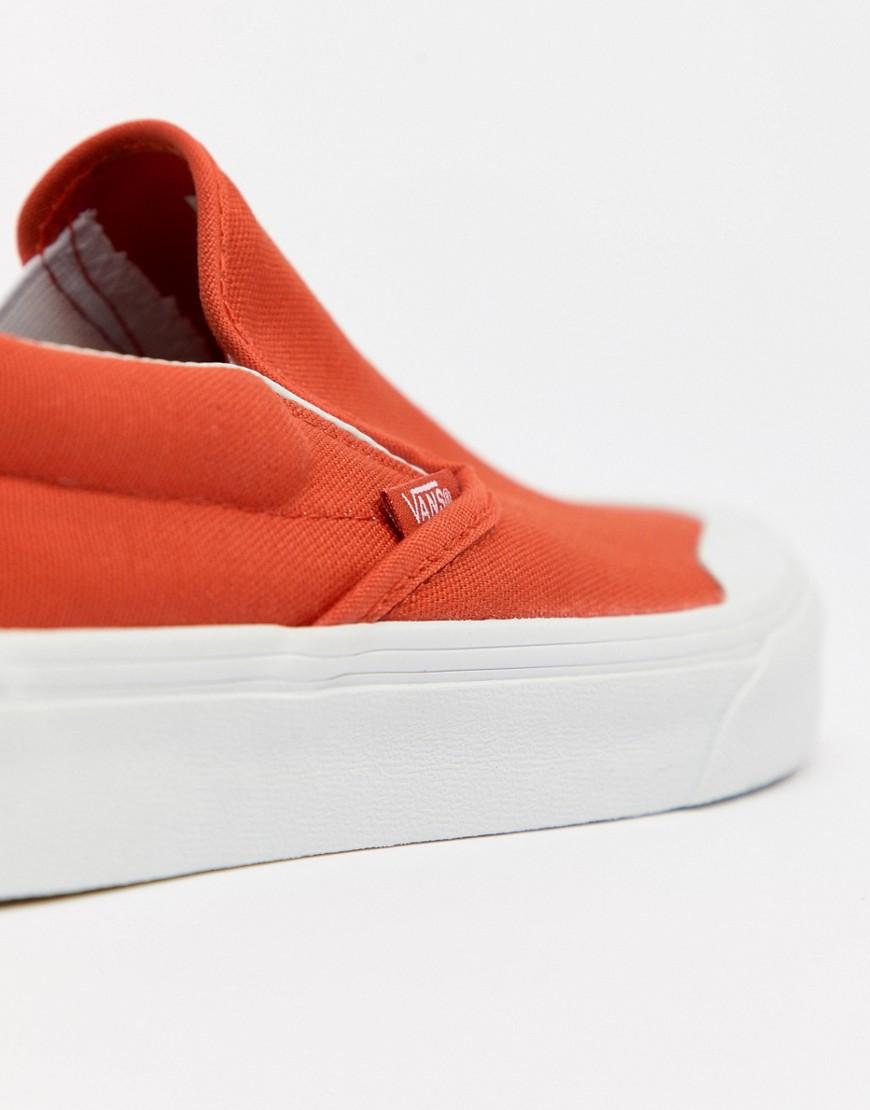 VANS | Оранжевые кеды-слипоны Vans Classic 138 VA3TKBU7W - Оранжевый | Clouty