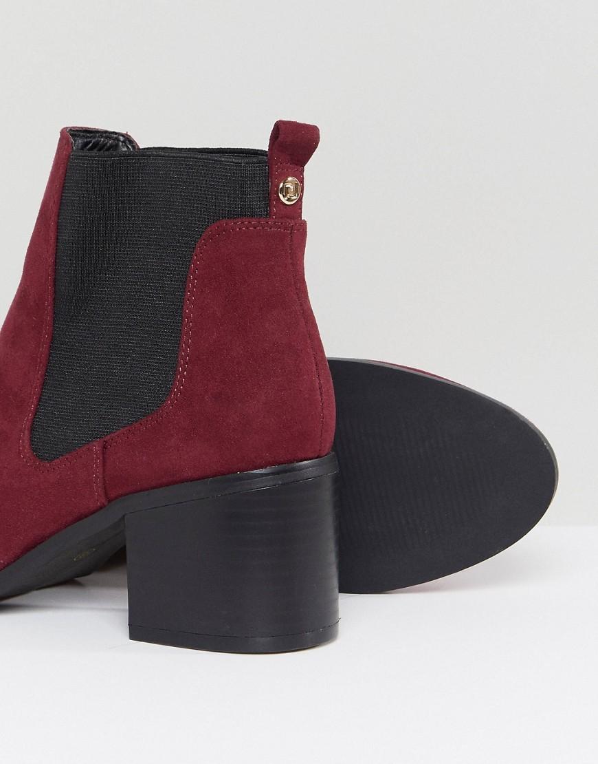 River Island | Ботинки челси на каблуке River Island - Красный | Clouty
