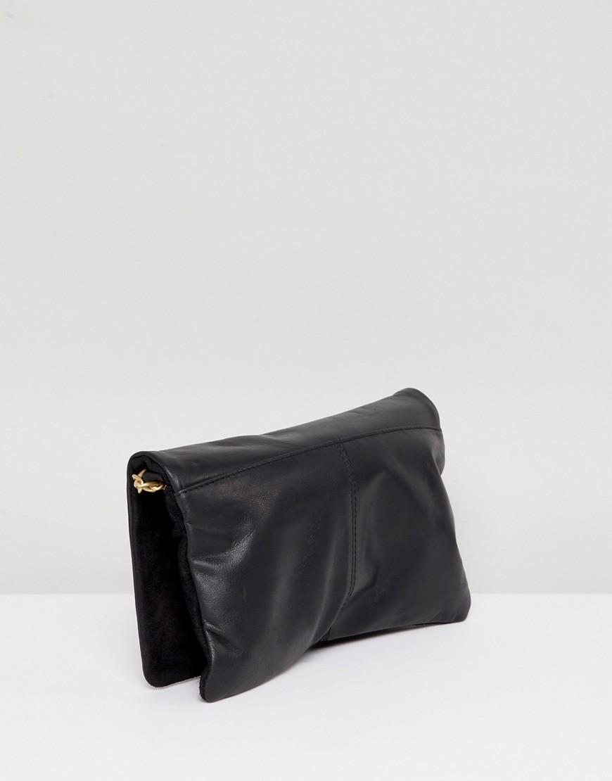 Urbancode   Кожаная сумка через плечо с ремешком-цепочкой Urbancode - Черный   Clouty