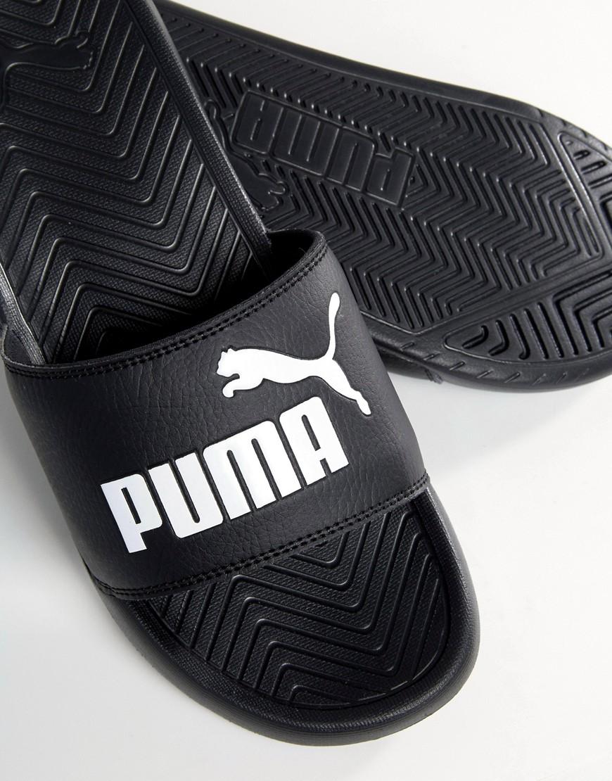 Puma   Черные шлепанцы Puma Popcat 36026510 - Черный   Clouty