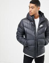 NIKE   Черная дутая куртка с капюшоном Nike 928833-010 - Черный   Clouty 76449cbc77d