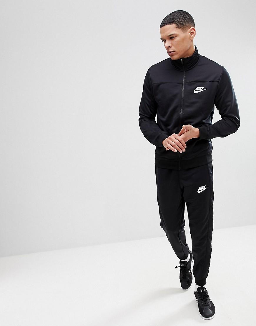558909b3 NIKE | Черный спортивный костюм Nike Poly 861774-010 - Черный | Clouty ...