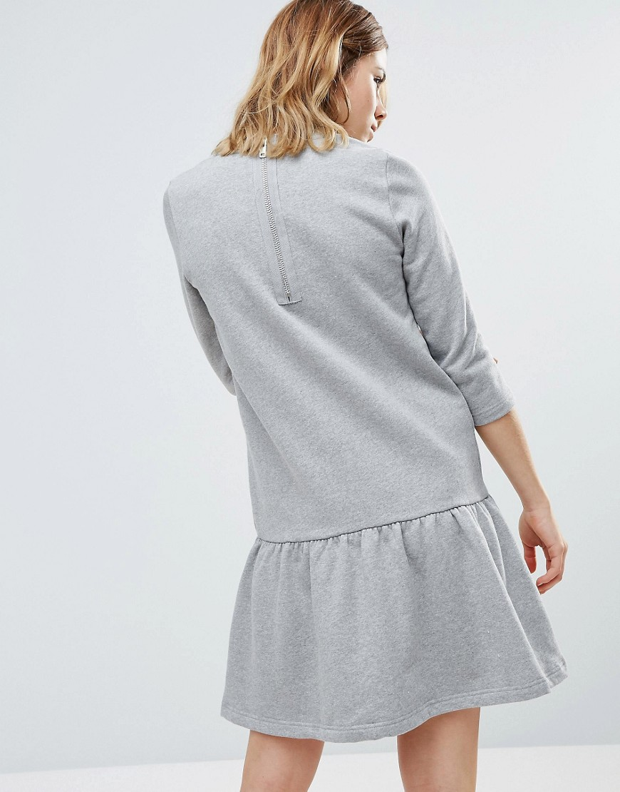 Ganni | Серый Трикотажное платье с заниженнои талиеи Ganni Rose Isoli - Серыи | Clouty