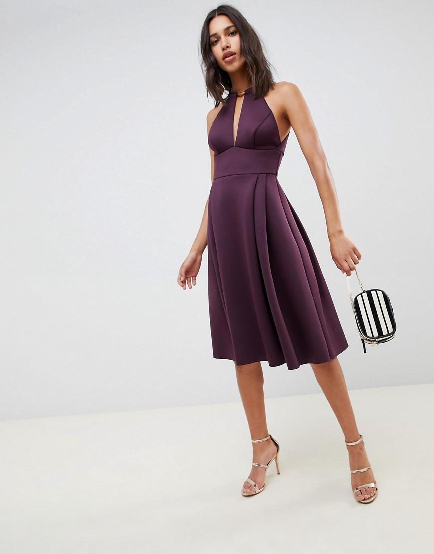 ASOS | Платье миди для выпускного ASOS DESIGN - Фиолетовый | Clouty
