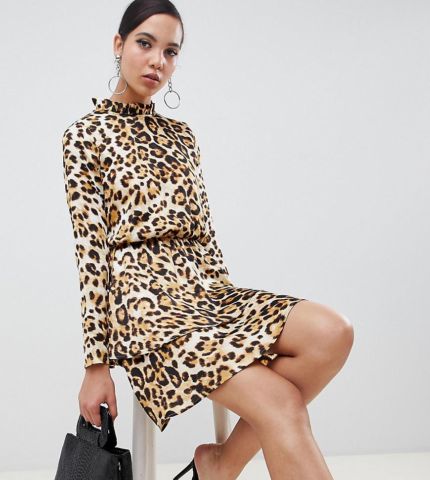 Missguided | Платье мини с леопардовым принтом Missguided Tall - Мульти | Clouty
