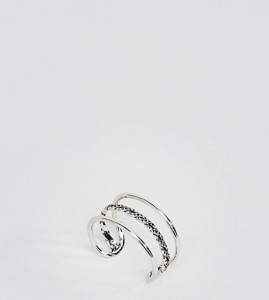 Kingsley Ryan | Серебряный Серебряное кольцо на большой палец с тремя планками Kingsley Ryan | Clouty