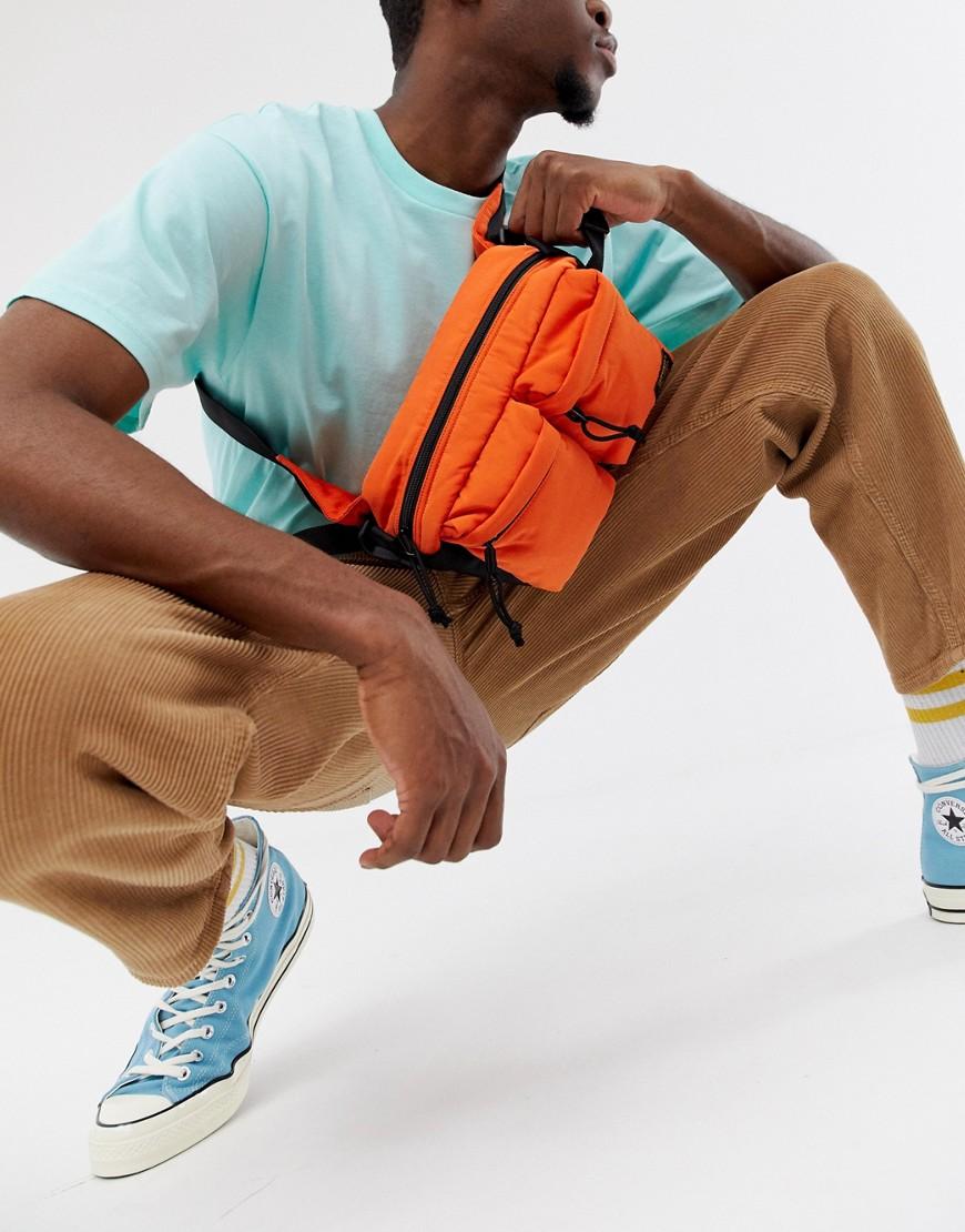 CARHARTT | Оранжевая сумка-кошелек на пояс в стиле милитари Carhartt WIP - Оранжевый | Clouty