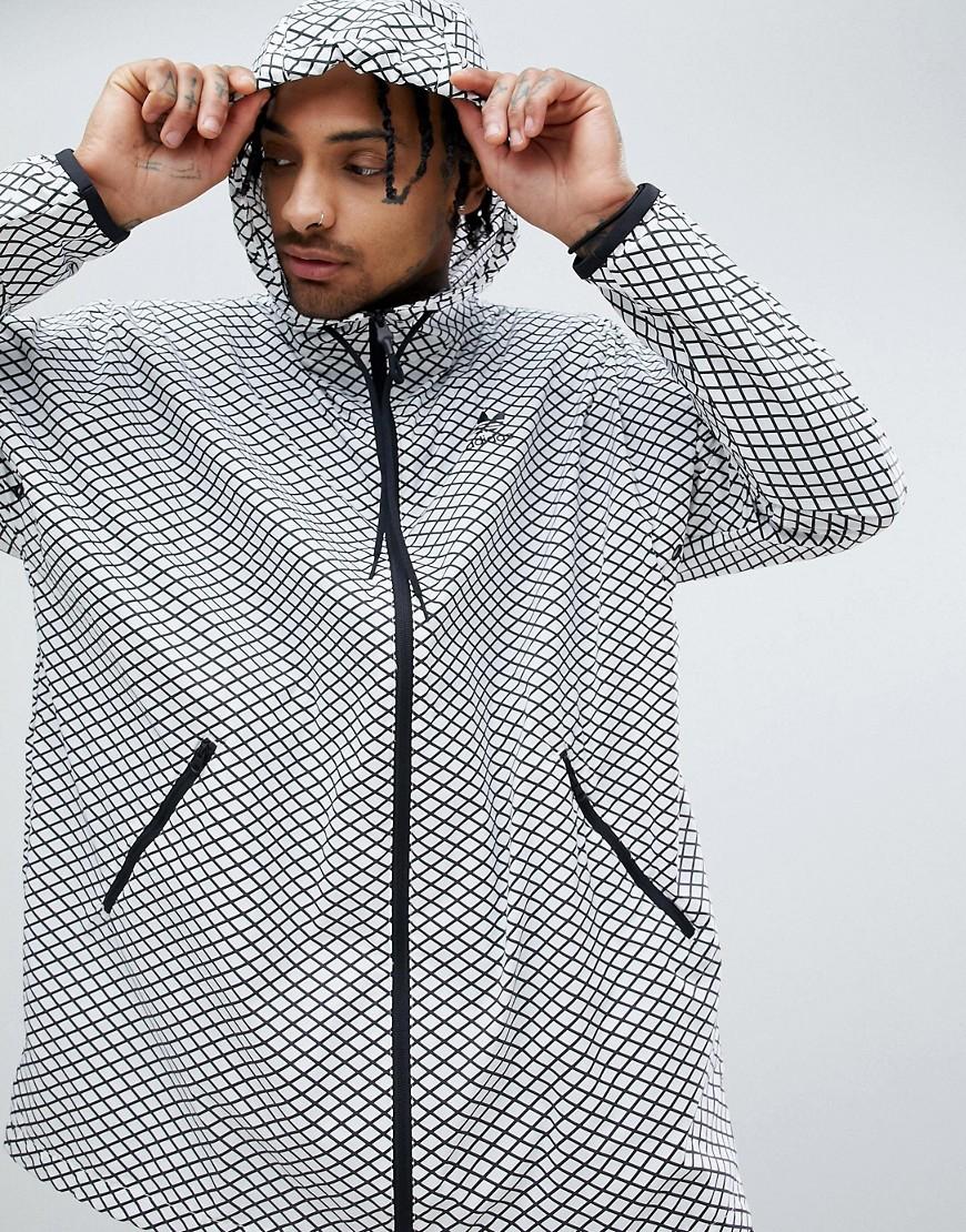 adidas Originals | Белая oversize-ветровка adidas Originals PLGN CW5102 - Белый | Clouty
