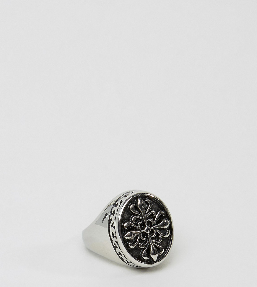 Reclaimed Vintage | Кольцо-печатка Reclaimed Vintage Inspired - Серебряный | Clouty