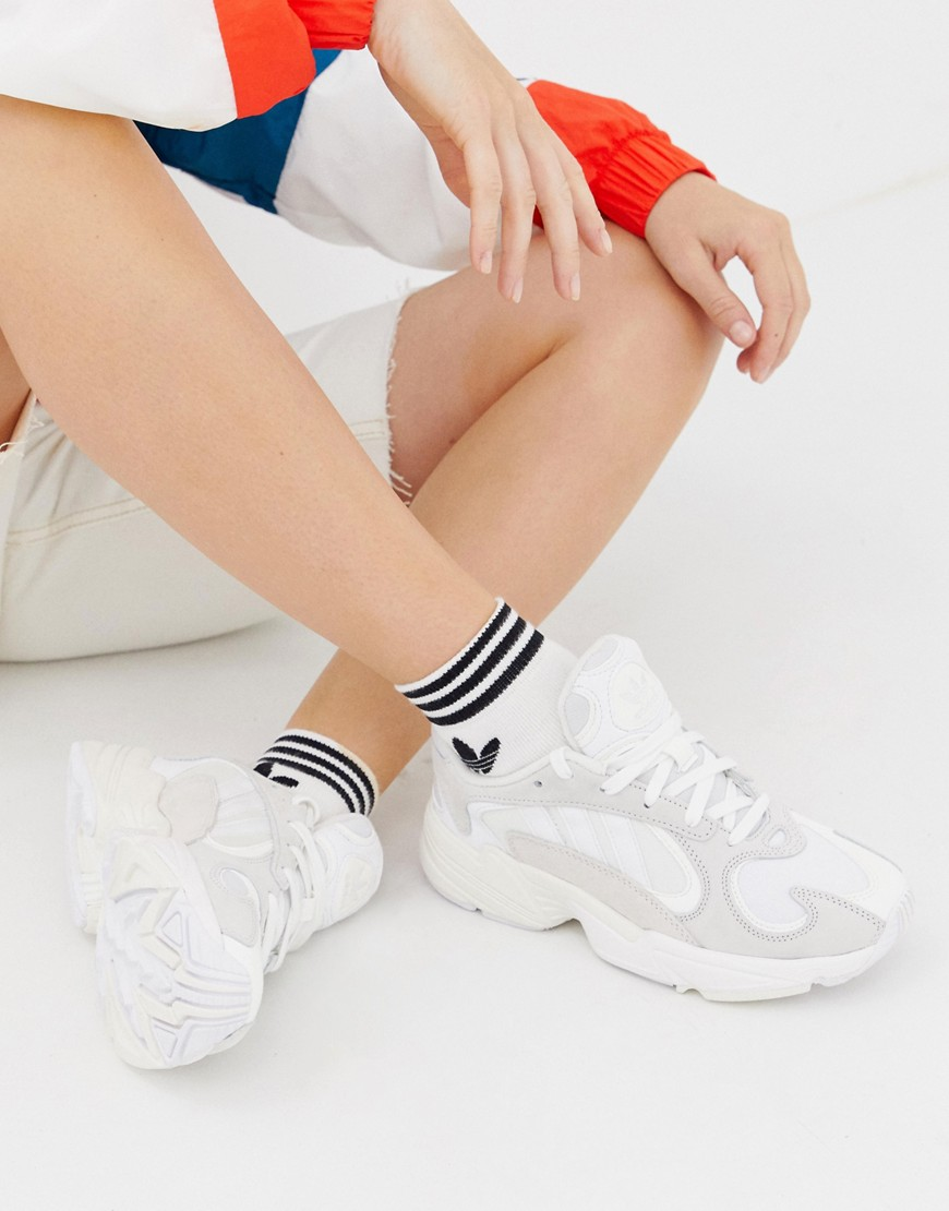 adidas Originals | Белые кроссовки adidas Originals Yung'1 - Белый | Clouty