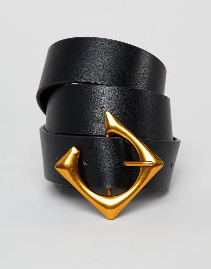 ASOS | Ремень для джинсов ASOS DESIGN - Черный | Clouty