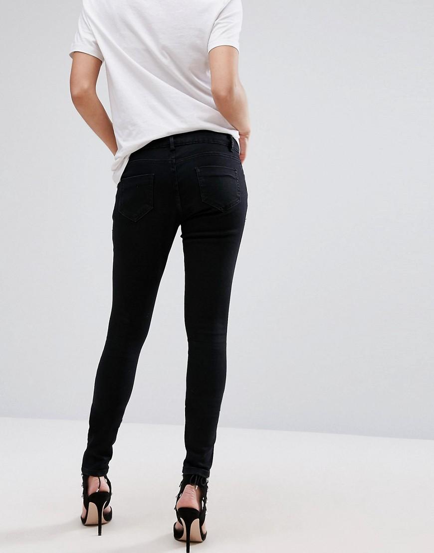 ASOS | Черные джинсы скинни со вставкой для живота ASOS DESIGN Maternity Ridley - Черный | Clouty