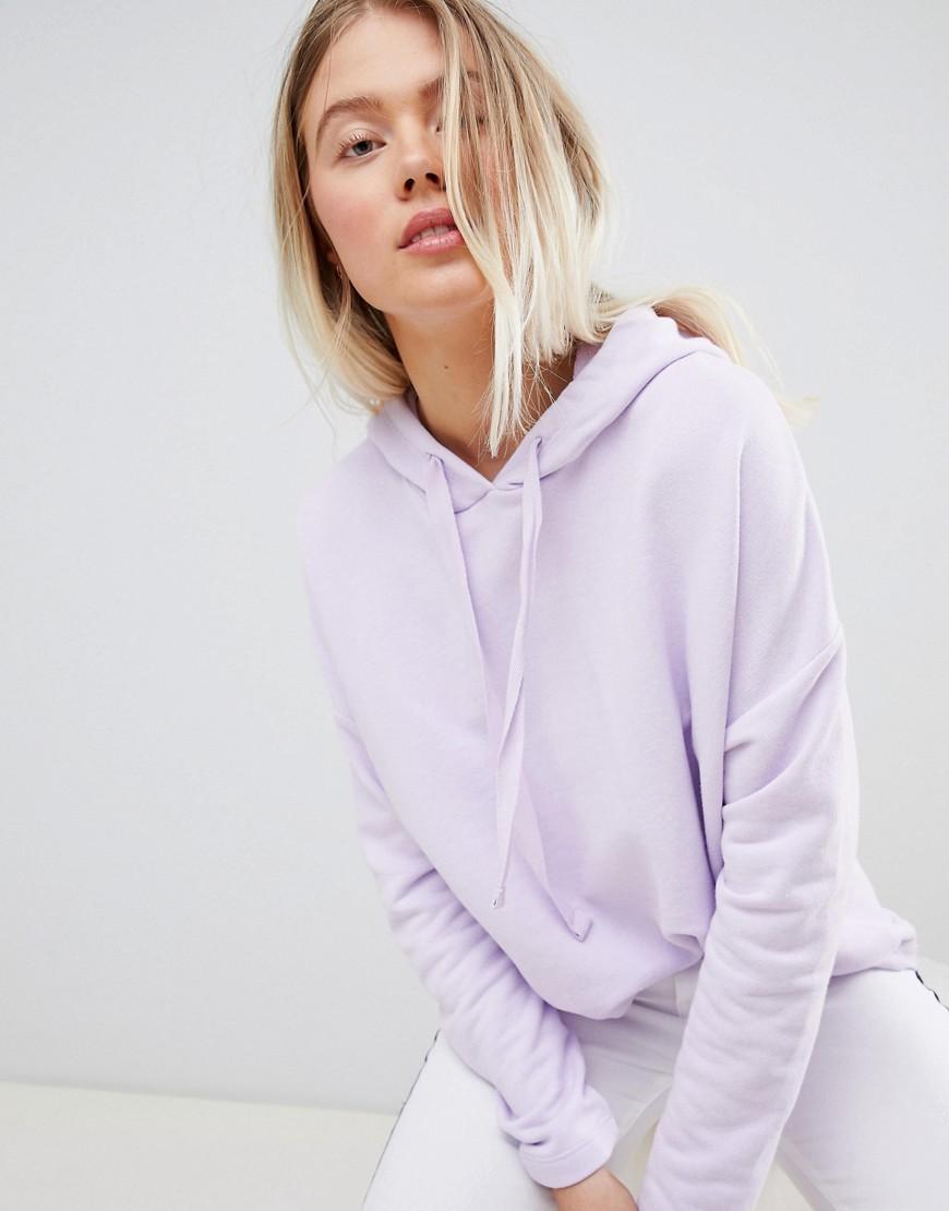 Pull & Bear   Худи сиреневого цвета Pull&Bear - Фиолетовый   Clouty