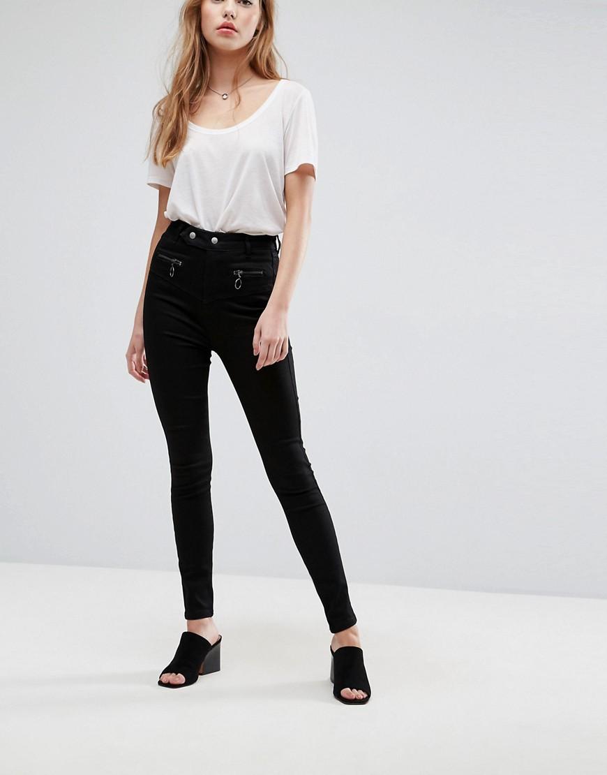 413a9307319 Черные джинсы с корсетной отделкой ASOS  SCULPT ME  Premium - Черный ...