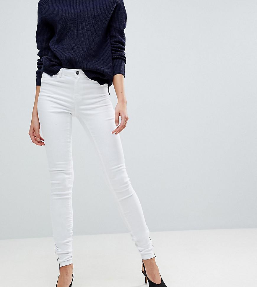 VERO MODA | Джинсы скинни с молниями у щиколотки Vero Moda Tall - Белый | Clouty