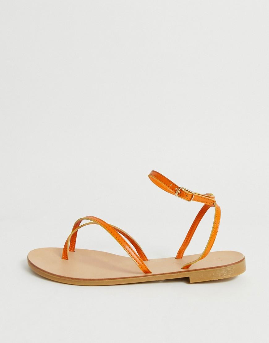 ASOS | Оранжевые сандалии для широкой стопы ASOS DESIGN Freefall - Оранжевый | Clouty