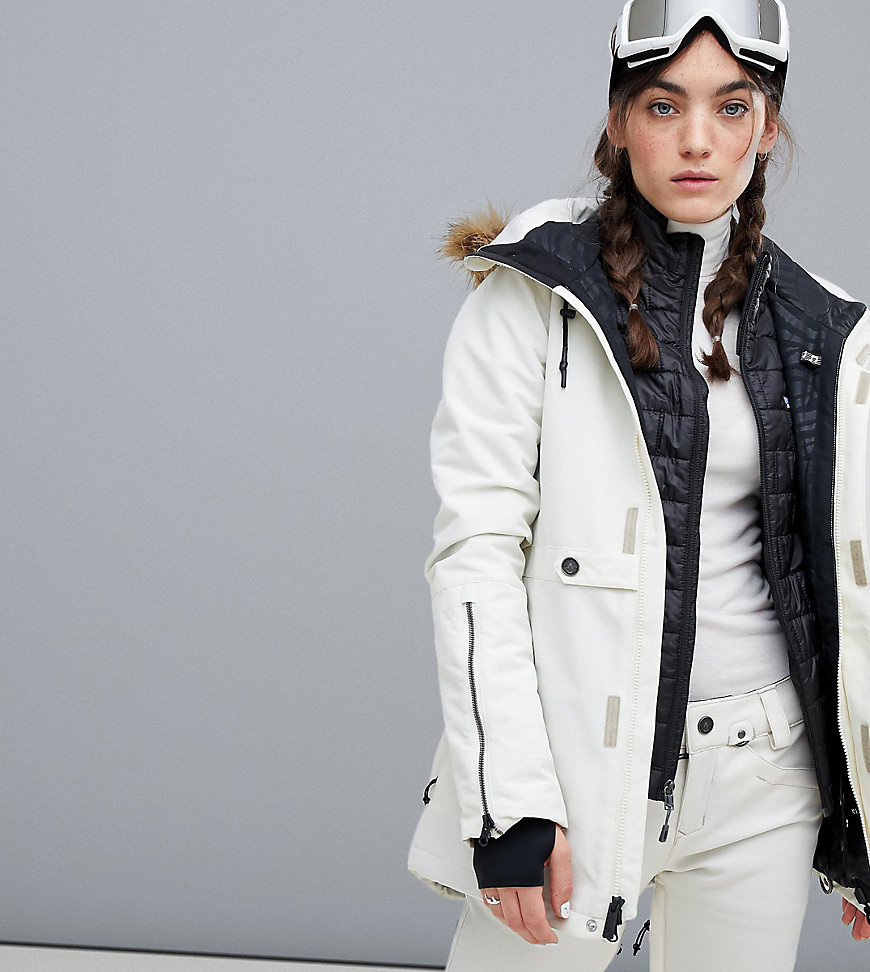 Volcom | Белая утепленная куртка Volcom Fawn - Белый | Clouty