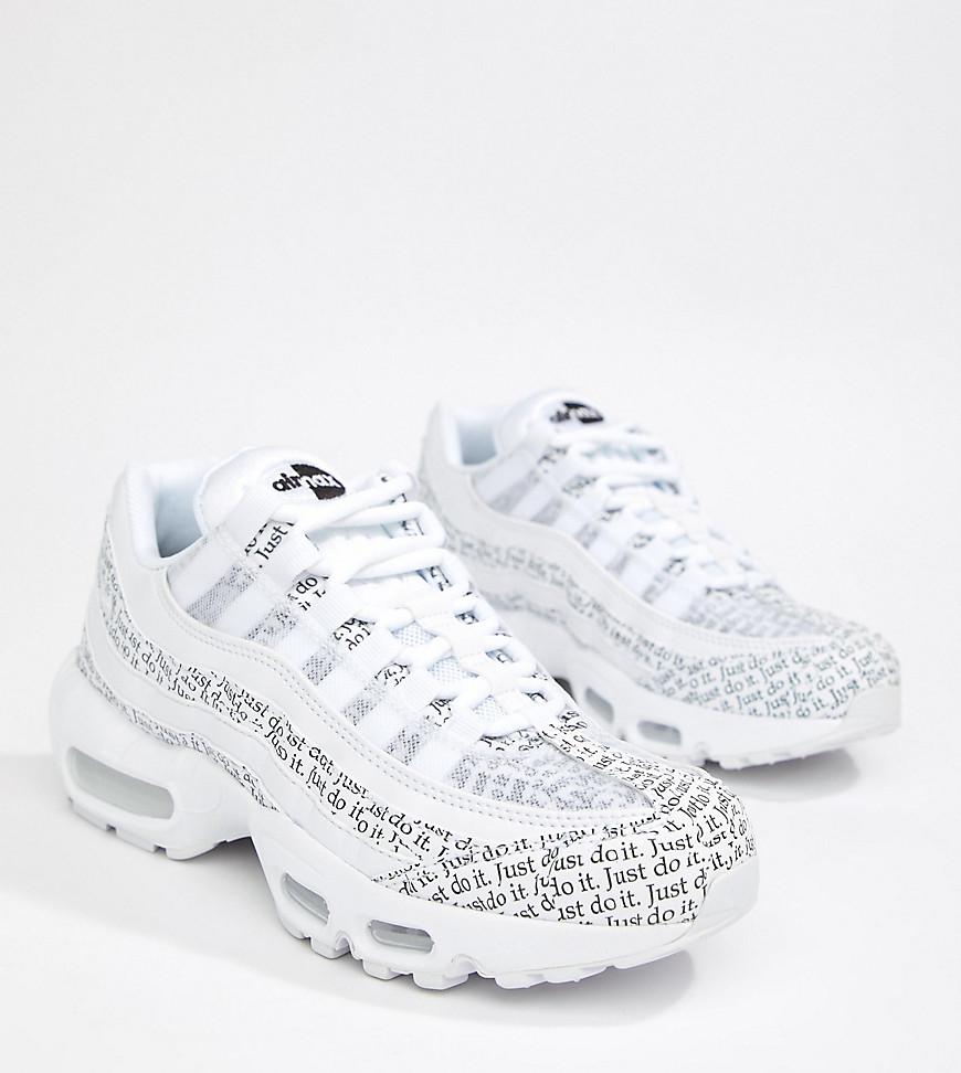 ed40634f NIKE   Белый Черно-белые кроссовки с газетным принтом Nike Just Do It Air  Max ...