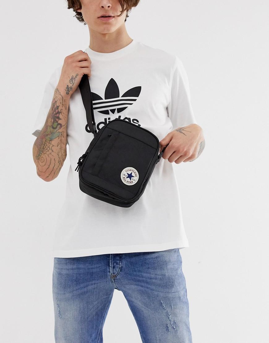 CONVERSE   Черная сумка Converse 10003338-A01 - Черный   Clouty
