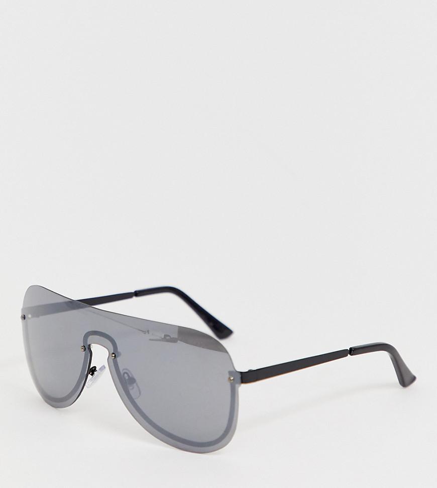 Monki | Черные солнцезащитные очки в D-образной оправе Monki - Черный | Clouty