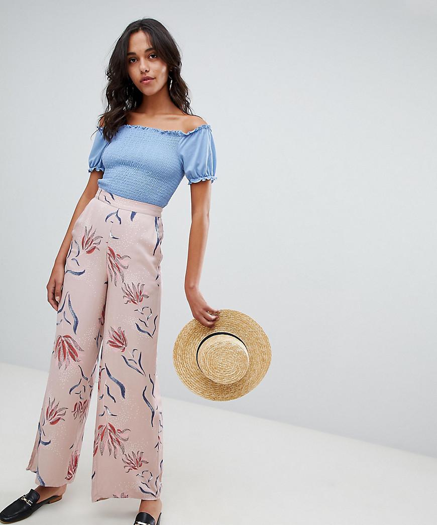 Vila | Широкие брюки с цветочным принтом Vila - Мульти | Clouty