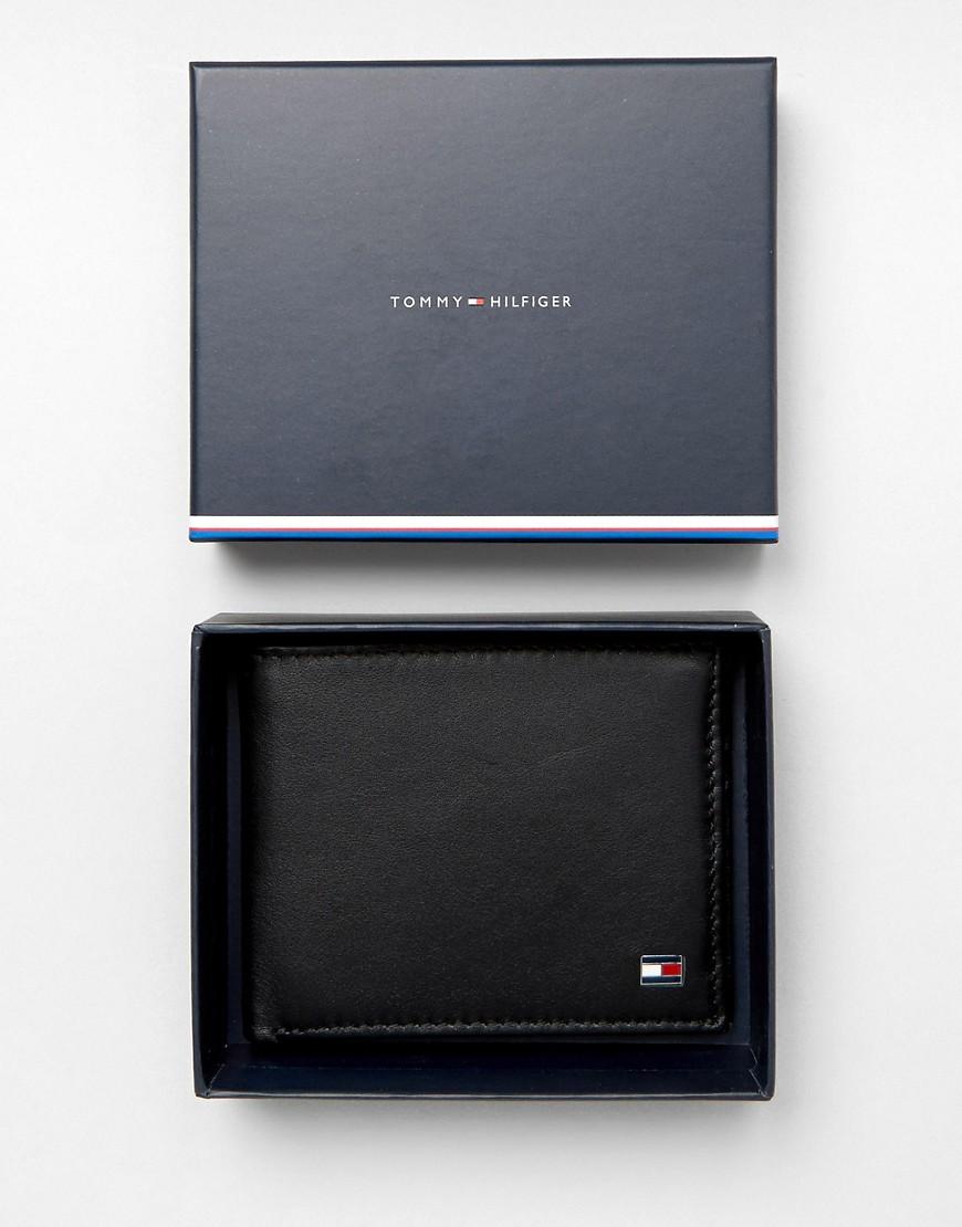 TOMMY HILFIGER | Черный кожаный бумажник двойного сложения Tommy Hilfiger Eton - | Clouty