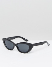 Небольшие солнцезащитные очки кошачий глаз ASOS DESIGN - Черный