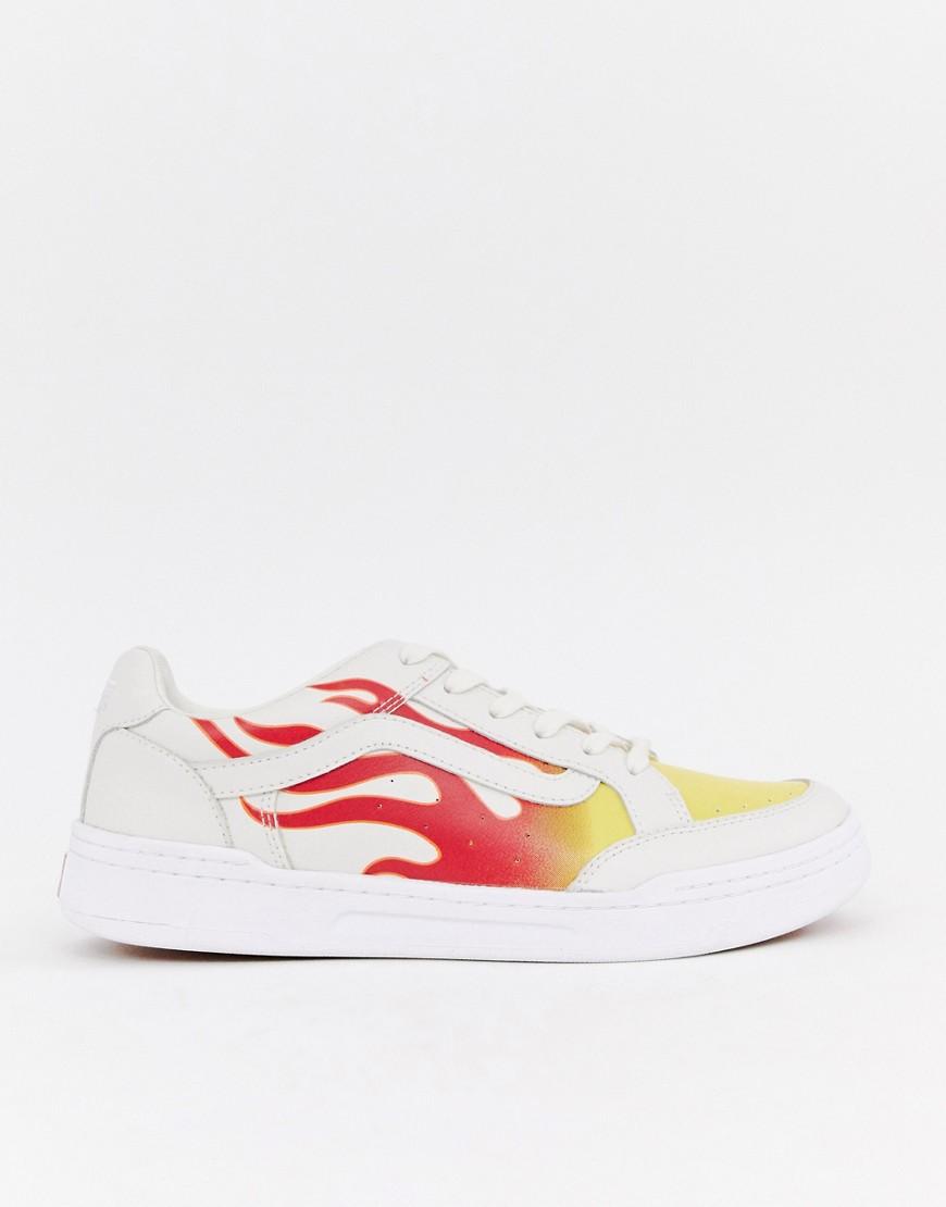 VANS | Белые кроссовки с пламенем Vans Highland VN0A38FDUML1 - Белый | Clouty