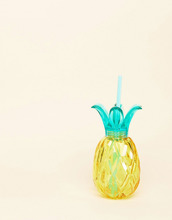 Стакан в форме ананаса с соломинкой Typo - Мульти