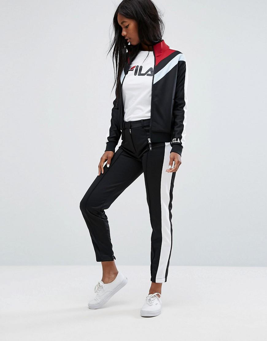 FILA | Строгие спортивные штаны со вставками Fila Co-Ord - Черный | Clouty