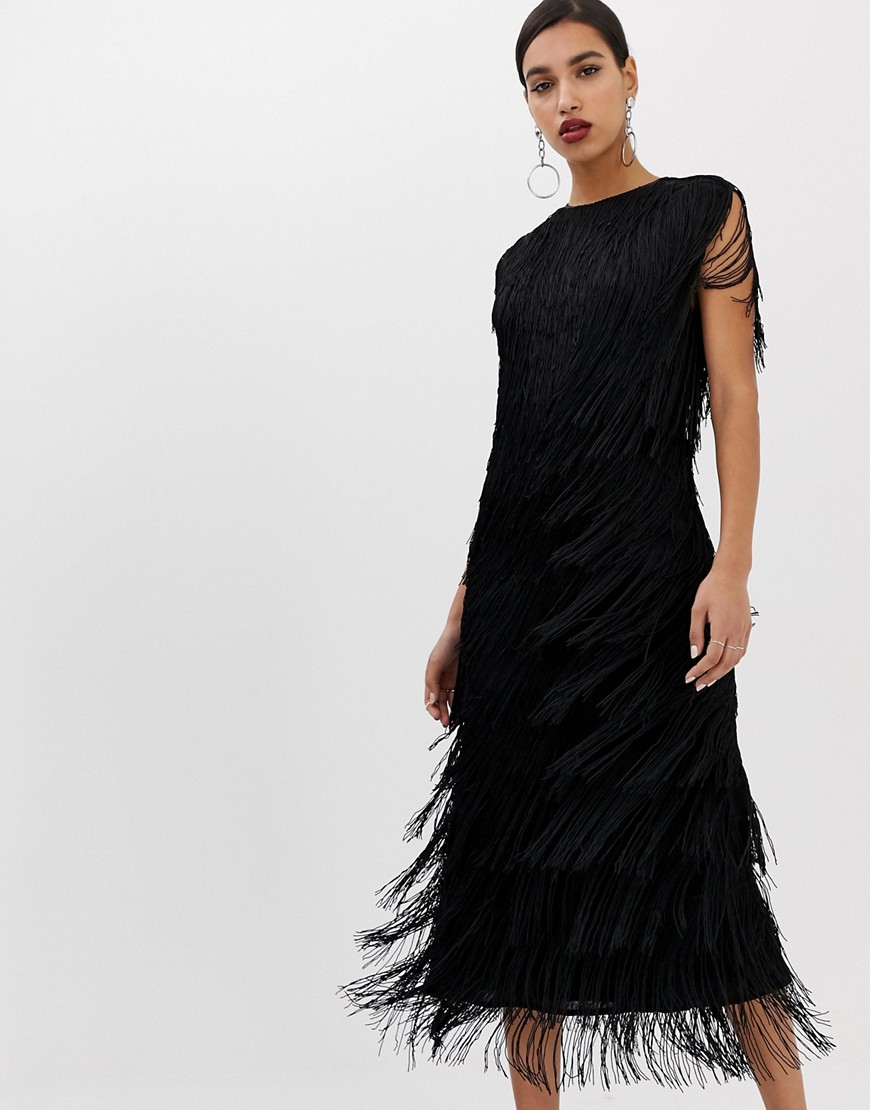 ASOS   Платье миди ASOS EDITION - Черный   Clouty