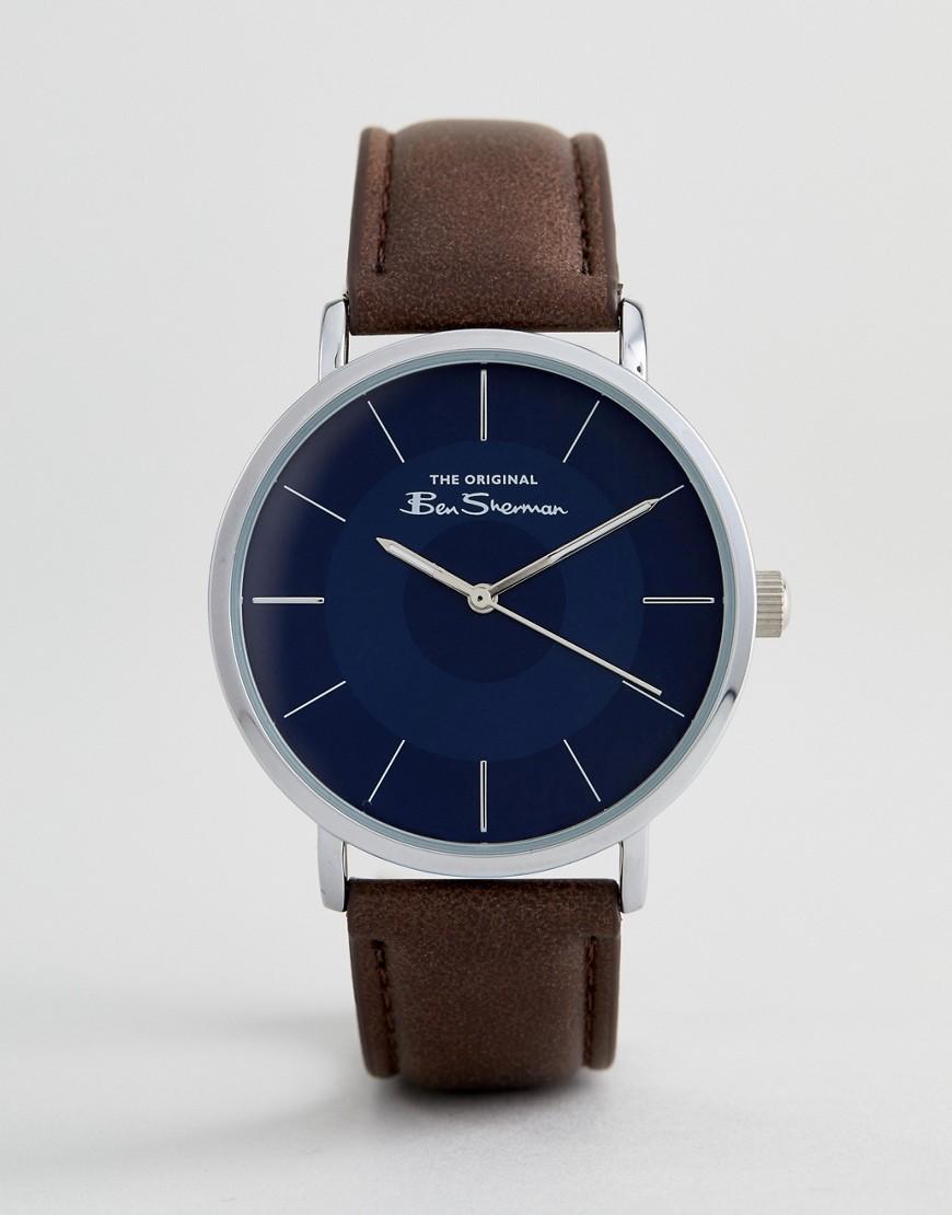 Ben Sherman | Часы с коричневым ремешком Ben Sherman BS014UBR - Коричневый | Clouty