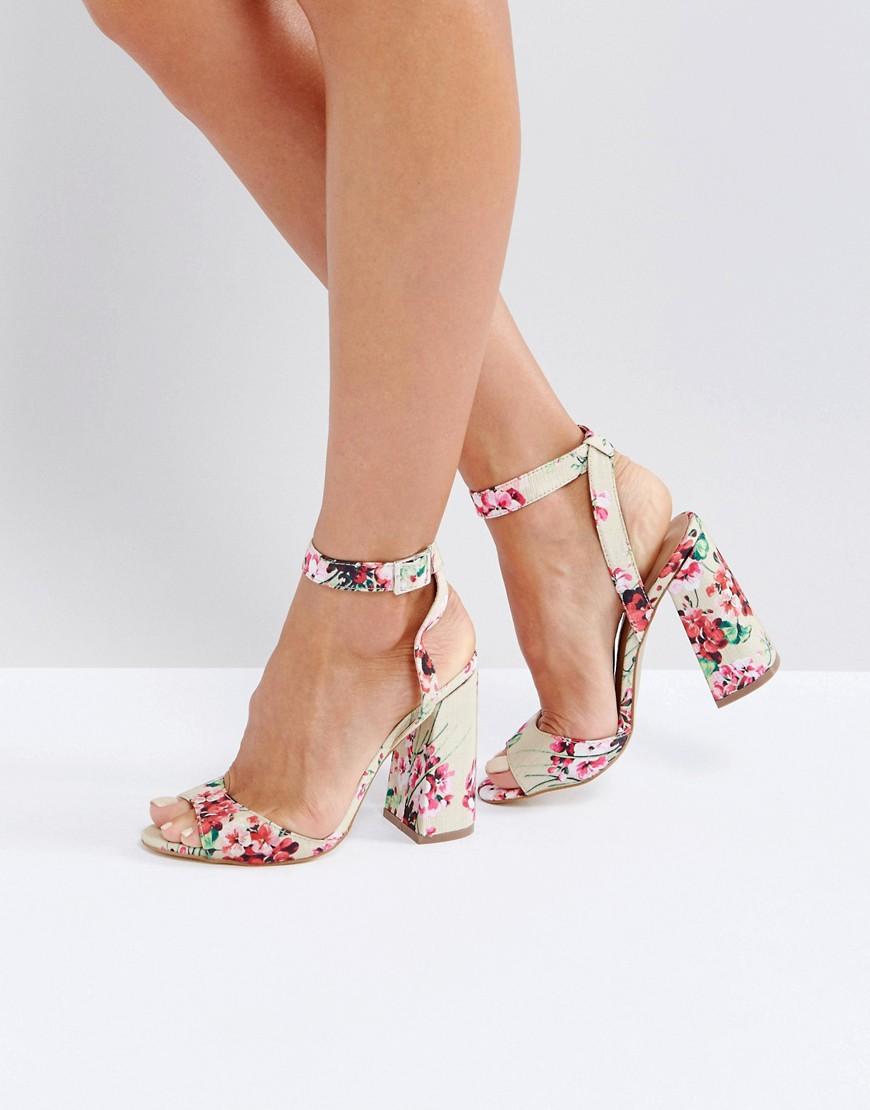 36c1f2980 New Look | Розовый Туфли на блочном каблуке с ремешком вокруг щиколотки New  Look | Clouty ...