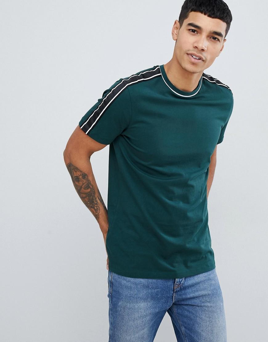 New Look | Темно-зеленая футболка с полосками New Look - Зеленый | Clouty