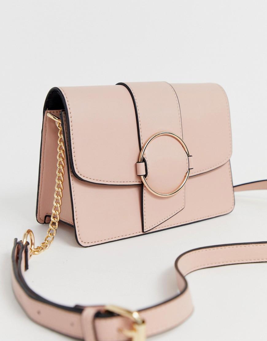 ASOS | Сумка через плечо с кольцом ASOS DESIGN - Розовый | Clouty