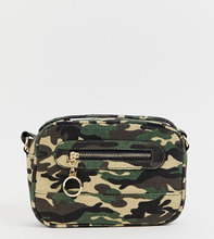 96c06b9b3f29 New Look | Зеленая сумка с камуфляжным принтом New Look - Зеленый | Clouty