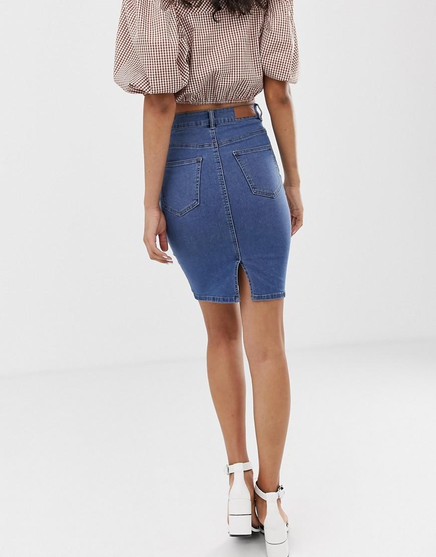 Юбки джинсовые с завышенной талией фото