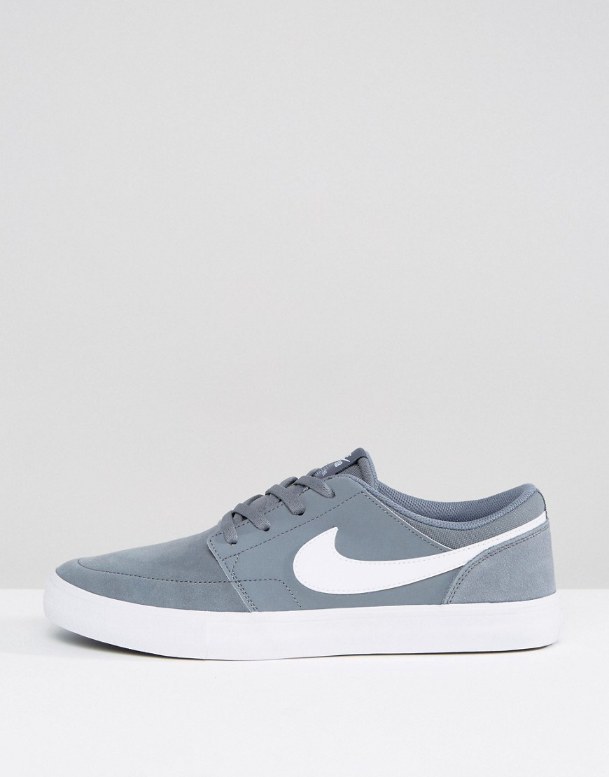 NIKE SB | Серые кроссовки Nike SB Portmore II SS 880266-010 - Серый | Clouty