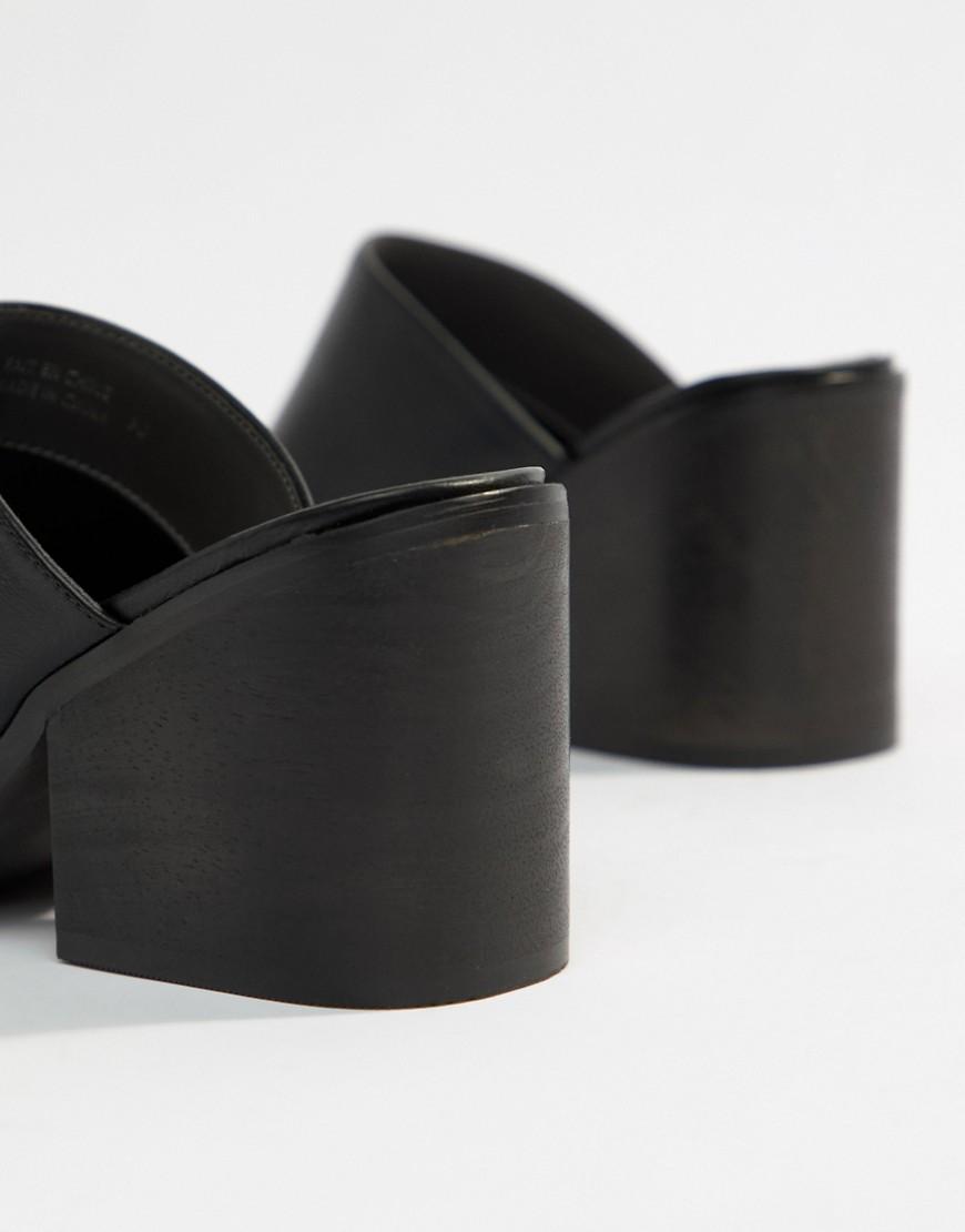 Matt & Nat | Черные мюли на каблуке Matt & Nat - Черный | Clouty