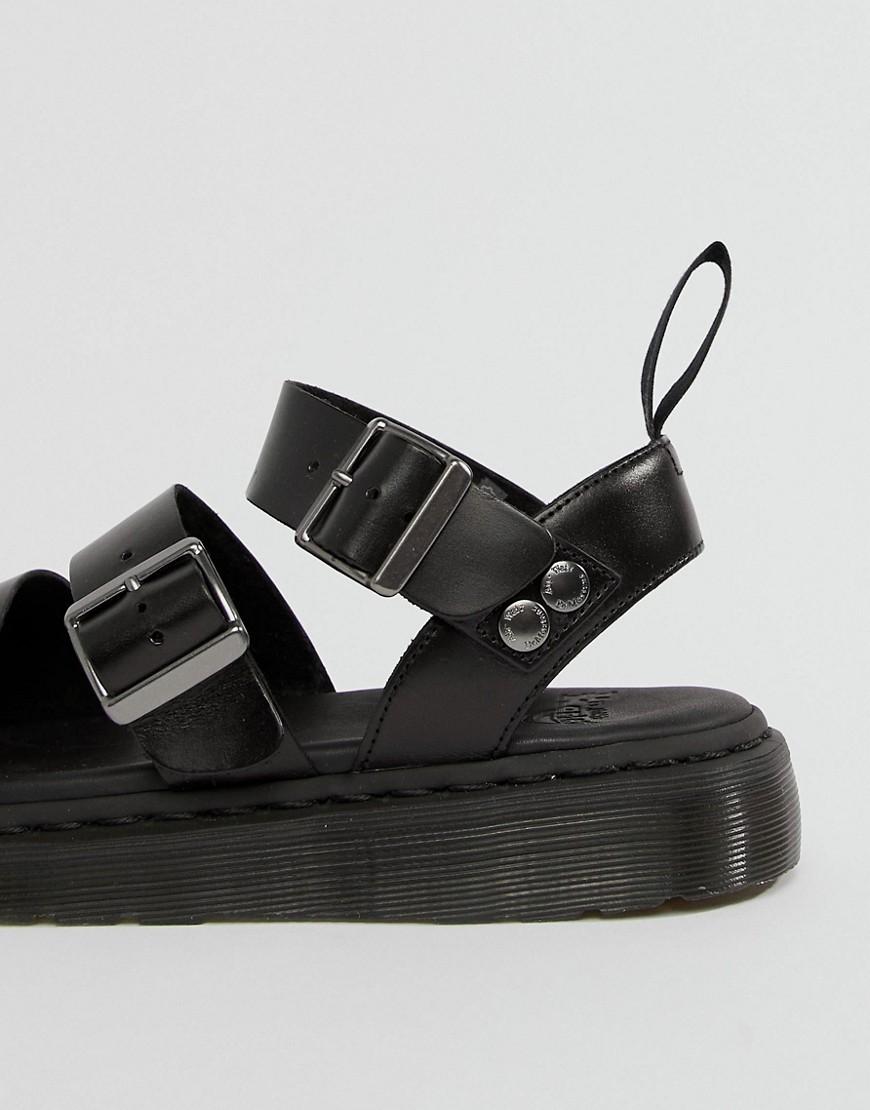 Dr. Martens   Черные сандалии с ремешками Dr Martens - Черный   Clouty