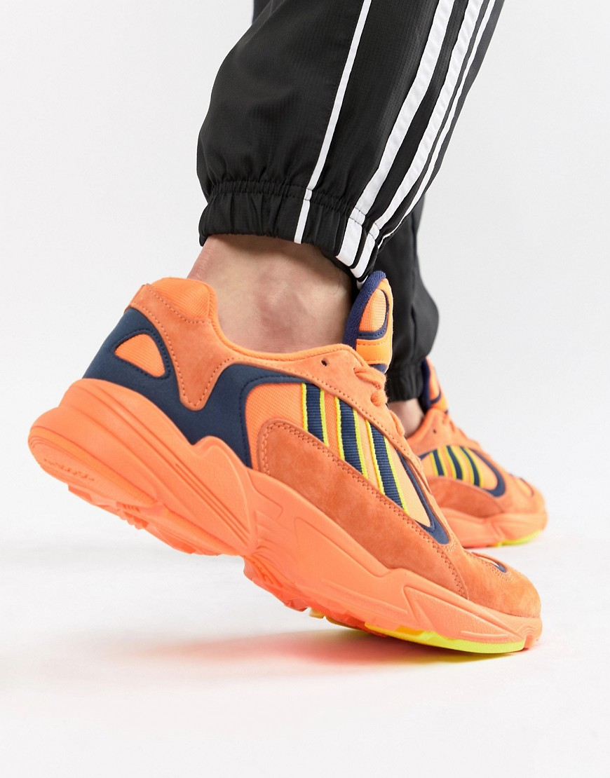 adidas Originals   Оранжевые кроссовки adidas Originals Yung-1 B37613 - Оранжевый   Clouty