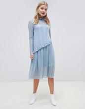 Кружевное платье миди Pieces - Синий