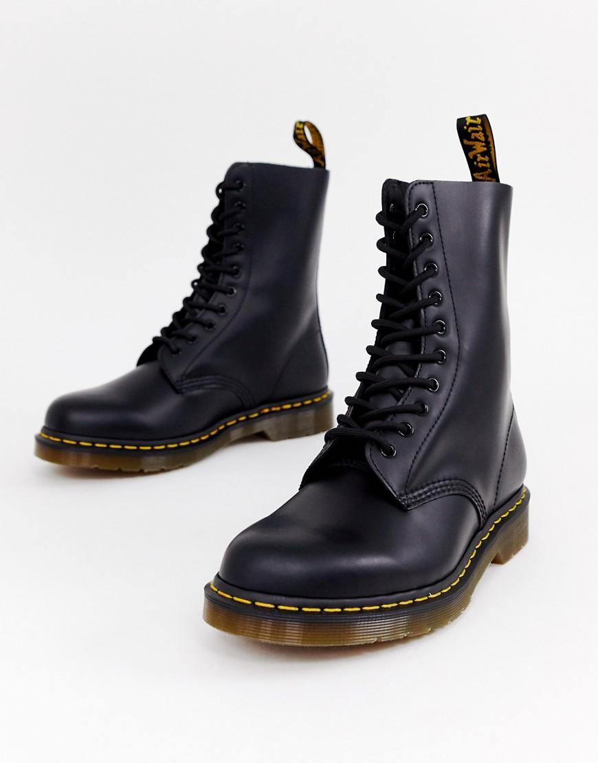 e17883cc Dr. Martens | Черные ботинки с 10 парами люверсов Dr Martens 1490 - Черный  ...