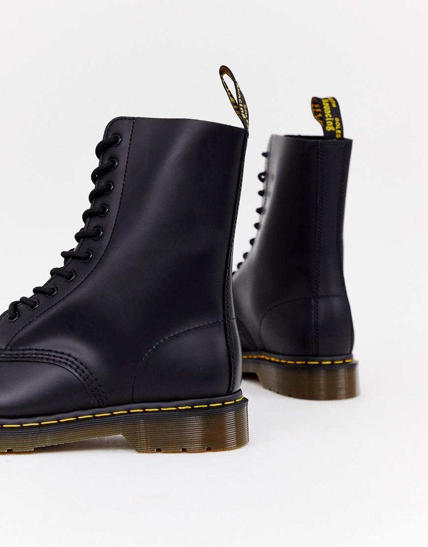 bc4f0507 ... Dr. Martens | Черные ботинки с 10 парами люверсов Dr Martens 1490 -  Черный