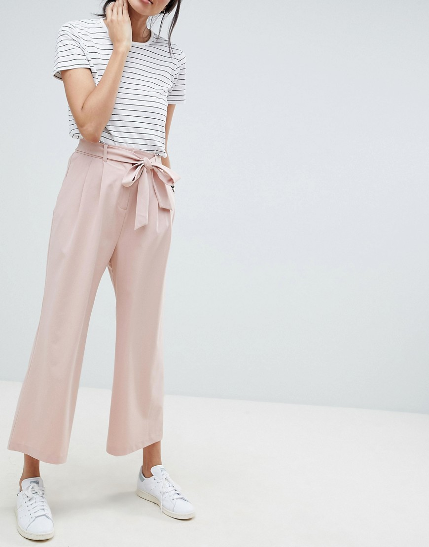 ASOS | Кюлоты с поясом ASOS DESIGN Tall - Розовый | Clouty