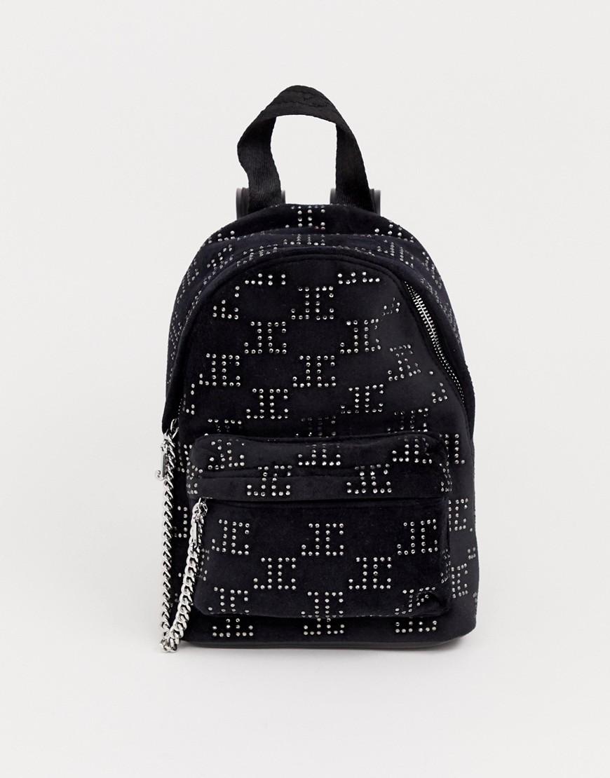 Juicy Couture | Черный бархатный рюкзак Juicy Black Label Delta - | Clouty