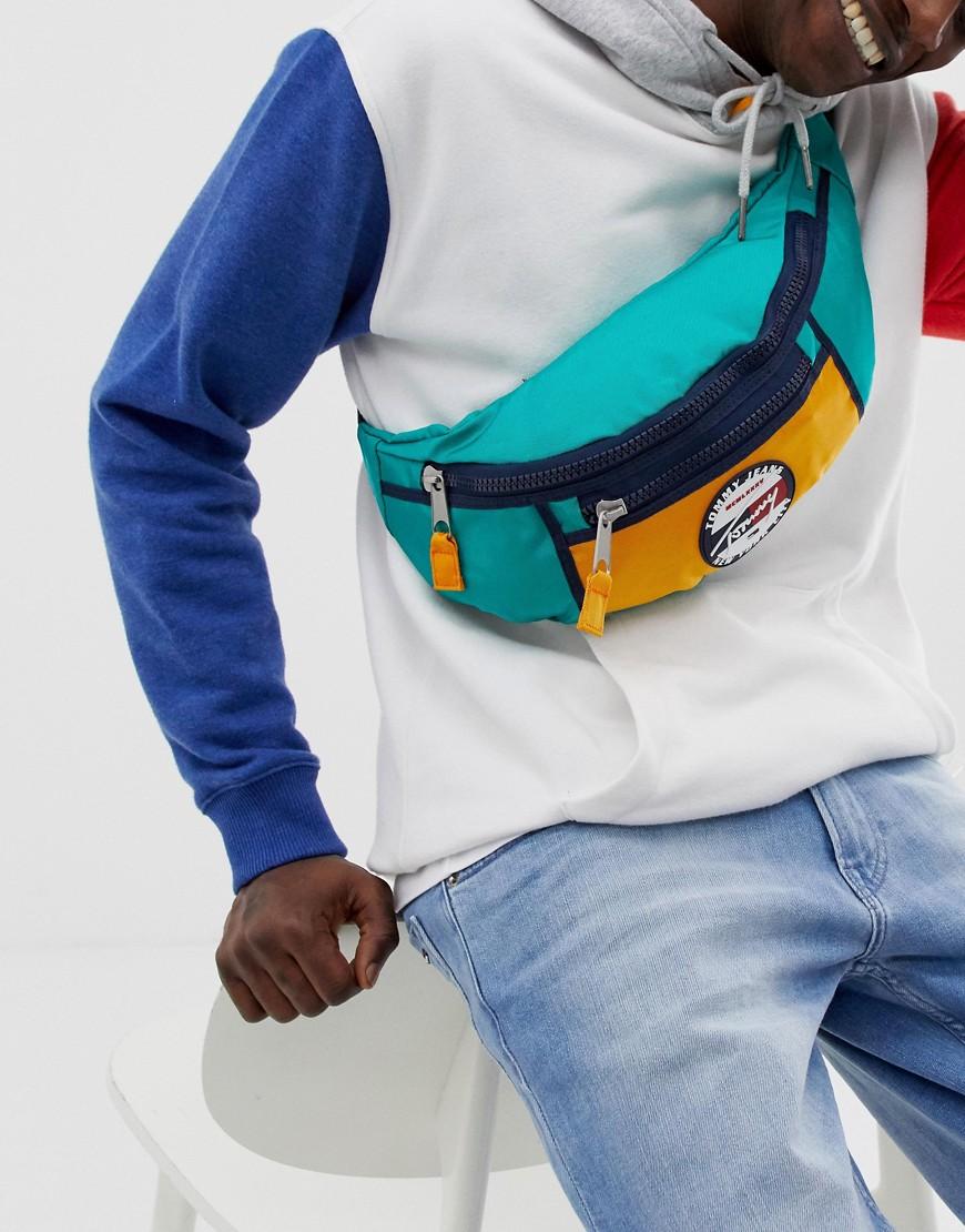TOMMY Jeans | Зеленая сумка-кошелек на пояс с логотипом Tommy Jeans - Зеленый | Clouty