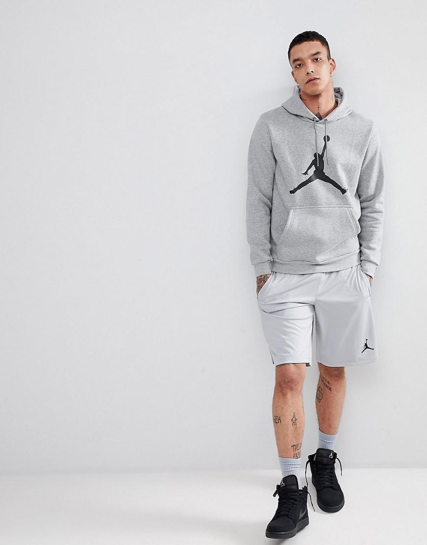 Jordan | Серый Худи из флисовой ткани серого цвета Nike Jordan Flight AH4507-063 | Clouty