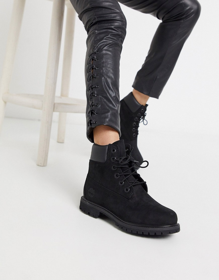 Timberland | Черные ботинки со шнурками Timberland Premium 6 - Черный | Clouty