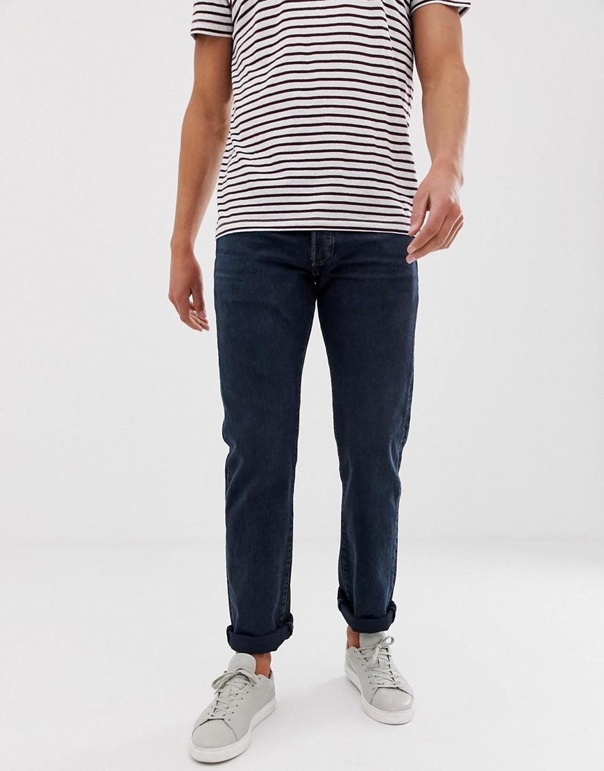 Levi's | Темные джинсы прямого кроя Levi's original 501 - Темно-синий | Clouty